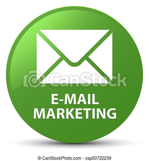E-mail marketing soft green round button - csp50722239