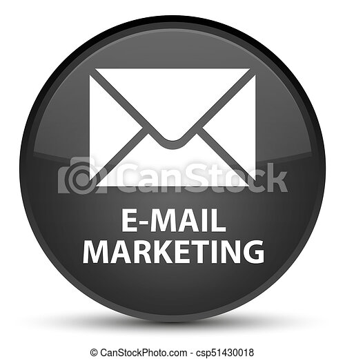 E-mail marketing special black round button - csp51430018