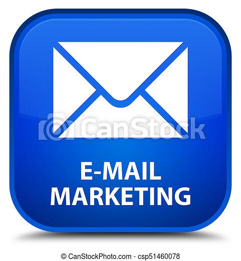 E-mail marketing special blue square button - csp51460078