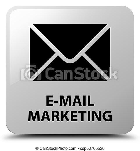 E-mail marketing white square button - csp50765528