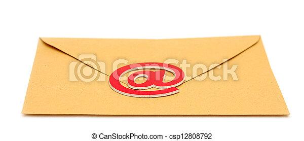 e-mail, sobre blanco, aislado - csp12808792