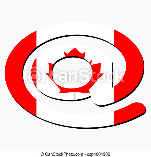 e mail symbol with canadian flag e mail address at symbol clip rh canstockphoto ca