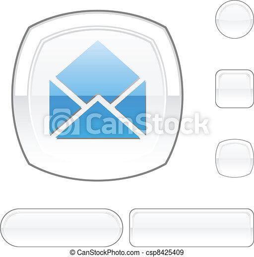 e-mail white button. - csp8425409