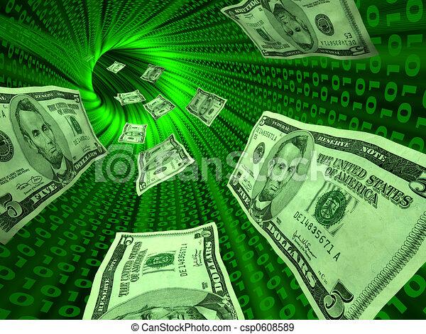 e- peníze - csp0608589