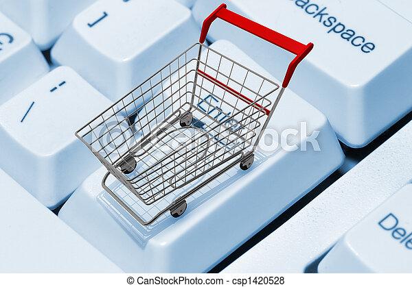 e-shopping - csp1420528