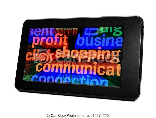E- shopping - csp12874220