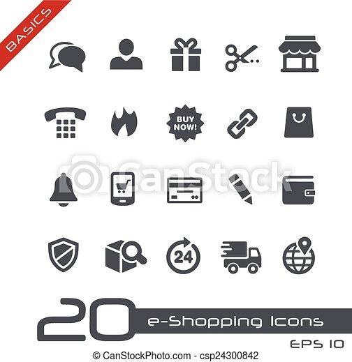 e-Shopping Icons // Basics - csp24300842