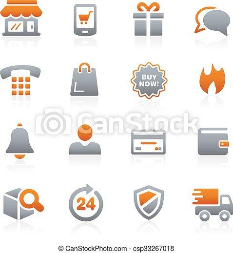 E-Shopping Icons -- Graphite Series - csp33267018
