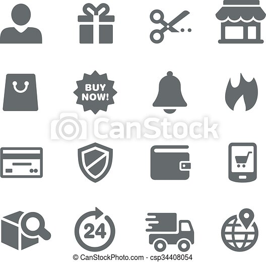 E-Shopping Icons - Utility Series - csp34408054