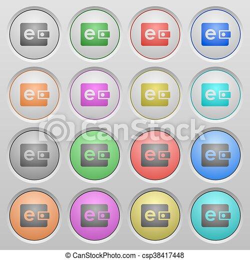 E-wallet plastic sunk buttons - csp38417448