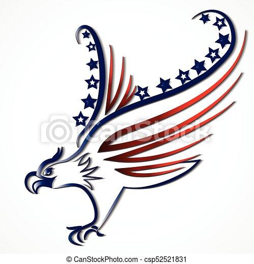 eagle american usa flag icon logo vector image