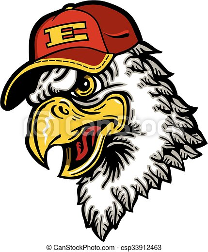 eagle baseball mascot design for school college or league clip art rh canstockphoto com eagle school mascot clipart