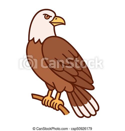 eagle cartoon illustration bald eagle silling on branch wild bird rh canstockphoto com eagle cartoon pic baby eagle cartoon images