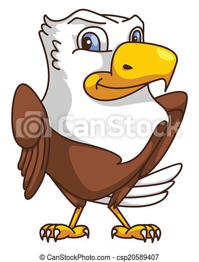 Eagle Cartoon - csp20589407