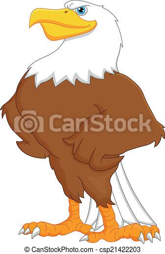 eagle cartoon - csp21422203