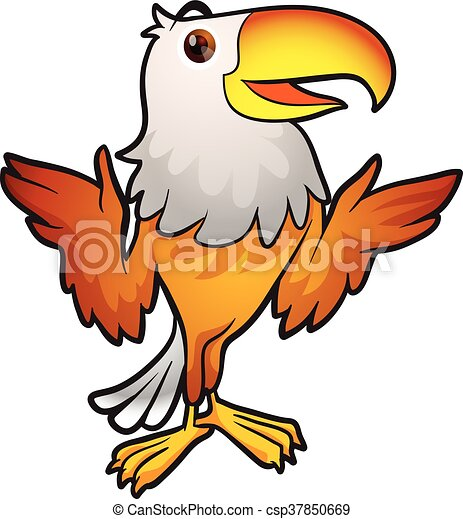 eagle mascot cartoon eagle posing eagle mascot clip art vector rh canstockphoto com