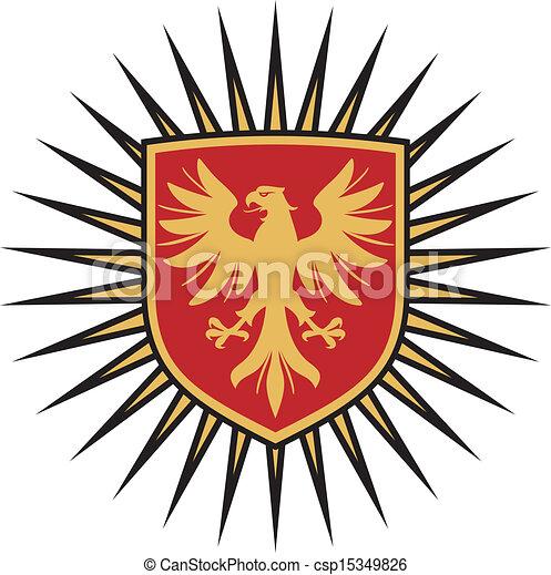eagle coat of arms design  - csp15349826