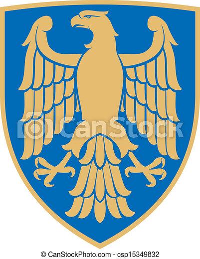 eagle (coat of arms, emblem) - csp15349832