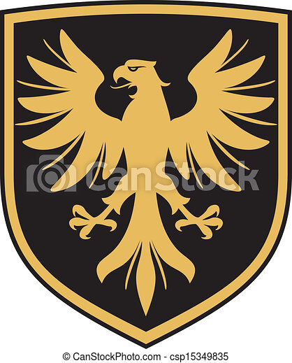 eagle (coat of arms, emblem) - csp15349835