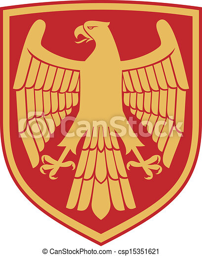 eagle (coat of arms, emblem) - csp15351621