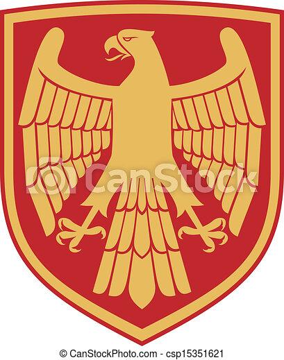 eagle (coat of arms, emblem) - csp15351621