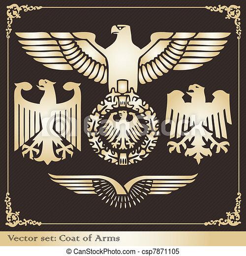 Eagle coat of arms heraldic - csp7871105