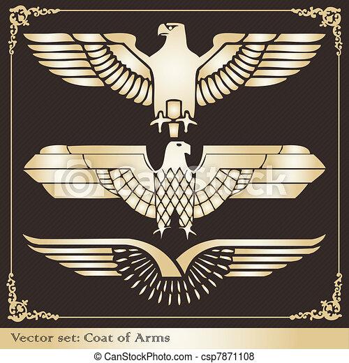 Eagle coat of arms heraldic - csp7871108