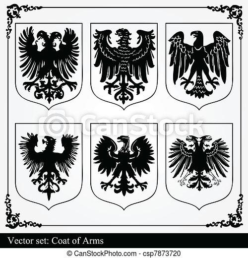 Eagle coat of arms heraldic - csp7873720