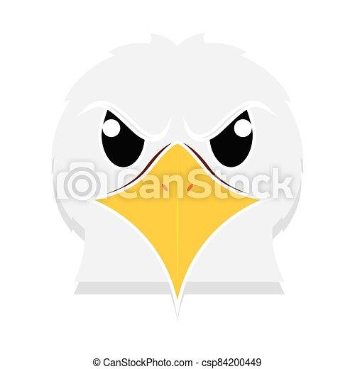 Eagle head cartoon - csp84200449