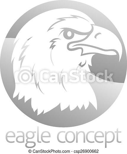 Eagle head circle design - csp26900662