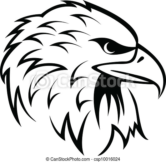 vector illustration of eagle head rh canstockphoto com indian eagle head clipart eagle head silhouette clip art