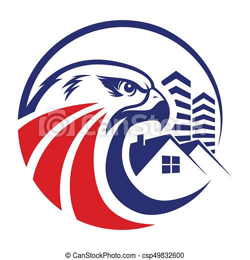 eagle head logo template hawk mascot graphic portrait of a rh canstockphoto com