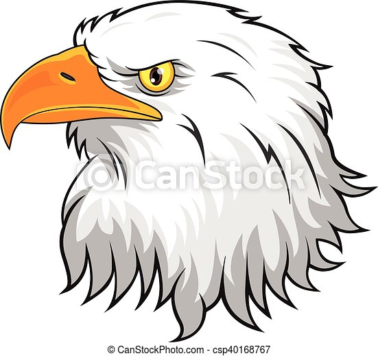 vector illustration of eagle head mascot clip art vector search rh canstockphoto com philadelphia eagle head clipart eagle head mascot clipart