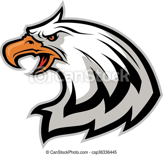 eagle head mascot clipart picture of an eagle head cartoon mascot rh canstockphoto com Bald Eagle Mascot Bald Eagle Mascot