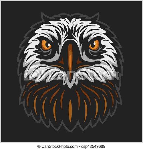 Eagle head mascot - csp42549689