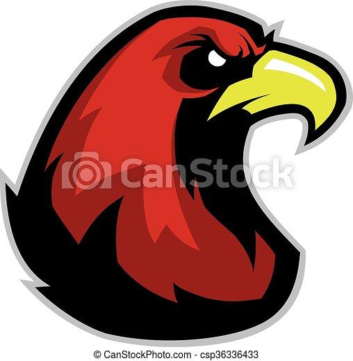 eagle head mascot clipart picture of an eagle head cartoon mascot rh canstockphoto com Eagle Mascot Logo Philly Eagle Mascot Clip Art