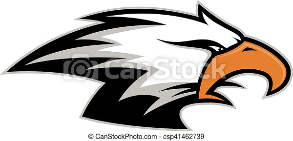 eagle head mascot clipart picture of an eagle head cartoon mascot rh canstockphoto com Philly Eagle Mascot Clip Art Bald Eagle Mascot