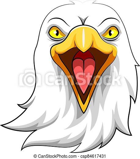 Eagle Head Mascot Illustration - csp84617431