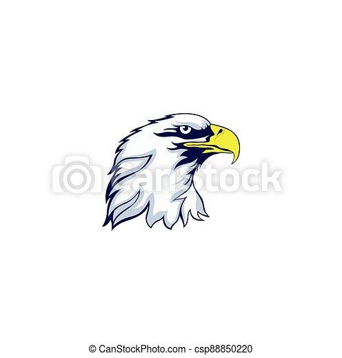 eagle head mascot logo design - csp88850220