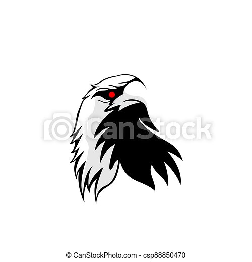 Eagle head mascot logo design - csp88850470