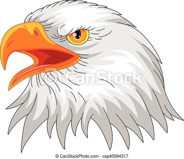 eagle head mascot - csp40094317