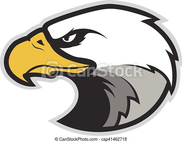 eagle head mascot clipart picture of an eagle head cartoon mascot rh canstockphoto com Eagle Mascot Logo Football Eagle Mascot Clip Art