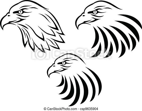 Eagle Head tattoo - csp9635904