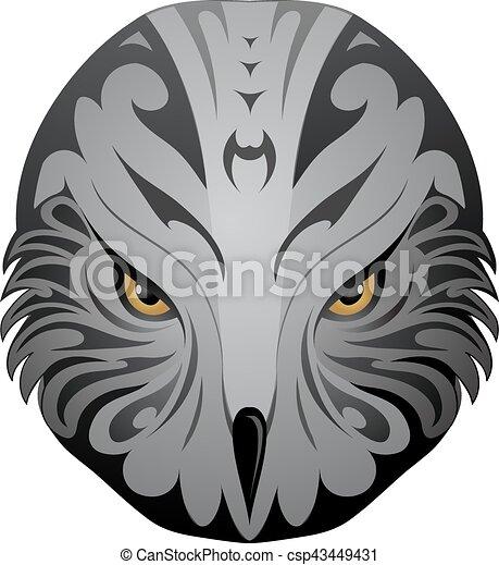 Eagle head tattoo - csp43449431