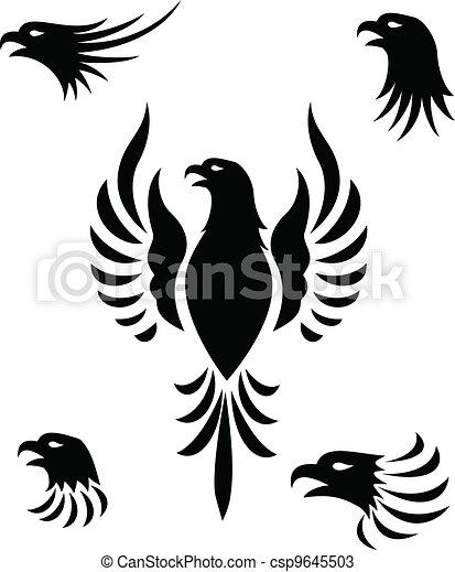 Eagle Head Tattoo - csp9645503