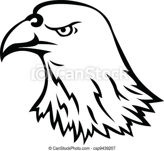 Eagle head tattoo - csp9439207