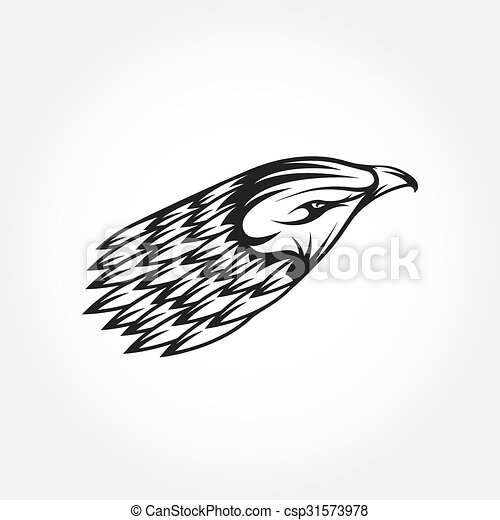 Eagle head vector design template.