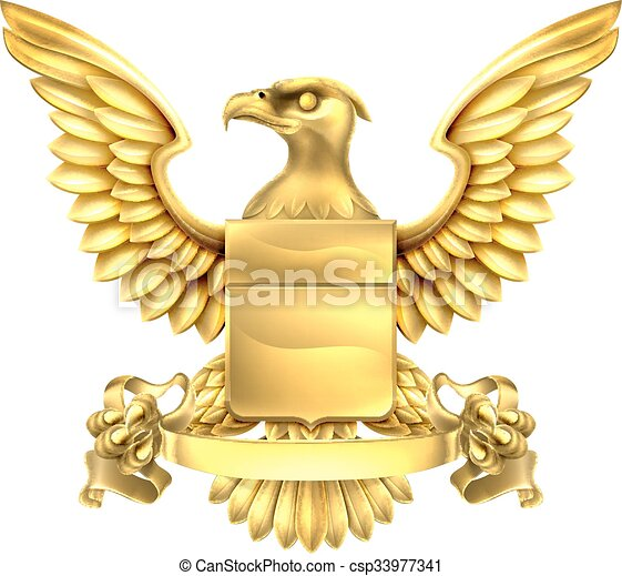 Eagle Heraldry Coat of Arms - csp33977341