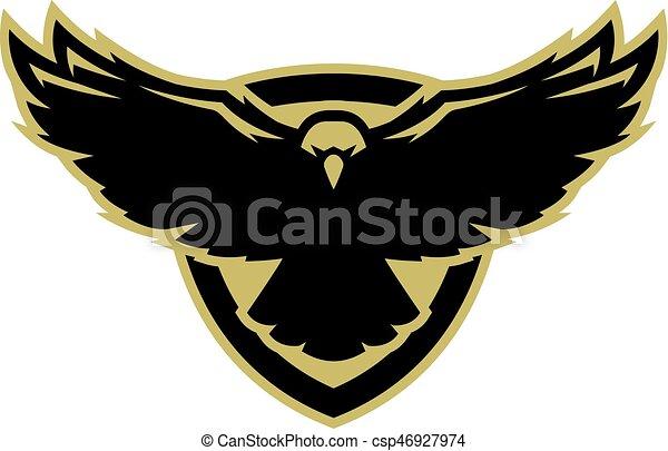 Eagle In Flight Logo Symbol Eagle In Flight Logo Symbol Vector