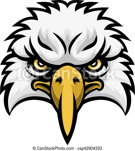 eagle mascot face a cartoon eagle bird character sports vectors rh canstockphoto com  eagle school mascot clipart